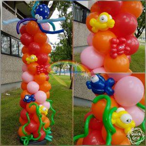 Ballondecoraties bij Schminkkoppies