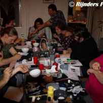 Halloween workshop werken met latex